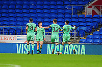 Harry McKirdy of Carlisle United celebrates scoring his side's second goal during the FA Cup third round match between Cardiff City and Carlisle United at the Cardiff City Stadium in Cardiff, Wales, UK. Saturday 04 January 2020
