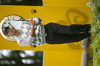 Straffin Co Kildare Ireland. K Club Ruder Cup...American Ryder Cup team member Chris DiMarco drives off from the 17th tee box on the opening fourball session on the first day of the 2006 Ryder Cup, at the K Club in Straffan, Co Kildare, in the Republic of Ireland, 22 September 2006..Photo: Eoin Clarke/ Newsfile..