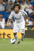 02.09.2012 SPAIN -  La Liga 12/13 Matchday 3th  match played between Real Madrid CF vs  Granada C.F. (3-0) at Santiago Bernabeu stadium. The picture show Marcelo Vieira (Brazilian defender of Real Madrid)