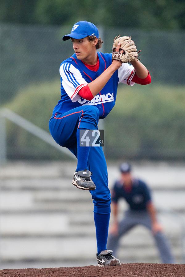 Baseball - 2009 European Championship Juniors (under 18 years old) - Bonn (Germany) - 08/08/2009 - Day 6 - Sebastien Neumann (France)