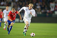 Carson, Ca-January 22, 2010: Brek Shea of the USA men's national team during a 1-1 tie with Chile at the Home Depot Center in Carson, California.