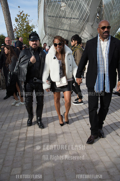 Peter Marino, Marjorie Bridges-Woods and Steve Harvey  attend Louis Vuitton Show Front Row - Paris Fashion Week  2016.<br /> October 7, 2015 Paris, France<br /> Picture: Kristina Afanasyeva / Featureflash
