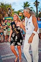 """Kaylin aka """"Miss Sunset Key West"""" takes center stage at Mallory Square, Key West, Florida, USA, June 18, 2010. Photo by Debi Pittman Wilkey"""
