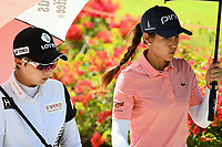SINGAPORE - MARCH 03: Azahara Munoz of Spain and Hyo Joo Kim of South Korea walking-down the 5th during the final round of the HSBC Women's World Championship 2019 at Sentosa Golf Club - Tanjong Course, Singapore on March 03, 2019.<br /> .<br /> .<br /> .<br /> (Photo by: Naratip Golf Srisupab/SEALs Sports Images)<br /> .<br /> Any image use must include a mandatory credit line adjacent to the content which should read: Naratip Golf Srisupab/SEALs Sports Images