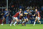 7th September 2017, Beaumont Legal Stadium, Wakefield, England; Betfred Super League, Super 8s; Wakefield Trinity versus St Helens; Louie McCarthy-Scarsbrook of St Helens is pulled back by Matty Ashurst of Wakefield Trinity
