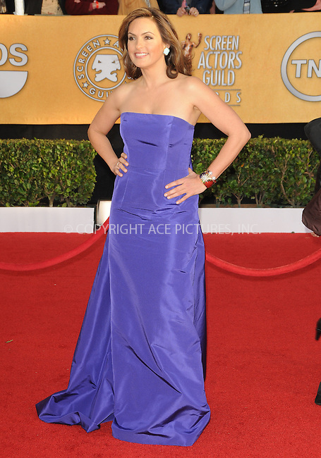 WWW.ACEPIXS.COM . . . . . ....January 30 2011, Los Angeles....Actress Mariska Hargitay arriving at the 17th Annual Screen Actors Guild Awards held at The Shrine Auditorium on January 30, 2011 in Los Angeles, CA....Please byline: PETER WEST - ACEPIXS.COM....Ace Pictures, Inc:  ..(212) 243-8787 or (646) 679 0430..e-mail: picturedesk@acepixs.com..web: http://www.acepixs.com