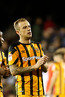 Kamil Grosicki of Hull City applauds the travelling fans during the Sky Bet Championship match between Fulham and Hull City at Craven Cottage, London, England on 13 September 2017. Photo by Carlton Myrie.