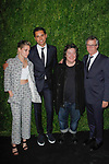 (L-R) Actress Kristen Stewart, chief film curator of the Museum of Modern Art Rajendra Roy, film producer Christine Vachon and film director Todd Haynes arrive at the MoMa Film Benefit Tribute to Julianna Moore presented by Chanel, at the Musuem of Modern Art in New York City, on November 13, 2017.