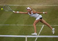 Agnieszka Radwanska<br /> <br /> Tennis - The Championships Wimbledon  - Grand Slam -  All England Lawn Tennis Club  2013 -  Wimbledon - London - United Kingdom -Saturday  1st July 2013. <br /> &copy; AMN Images, 8 Cedar Court, Somerset Road, London, SW19 5HU<br /> Tel - +44 7843383012<br /> mfrey@advantagemedianet.com<br /> www.amnimages.photoshelter.com<br /> www.advantagemedianet.com<br /> www.tennishead.net