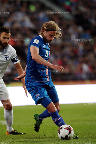 2.9.2017, Ratina Stadion, Tampere, Finland.<br /> FIFA World Cup 2018 Qualifying match, Finland v Iceland.<br /> Birkir Bjarnason - Iceland