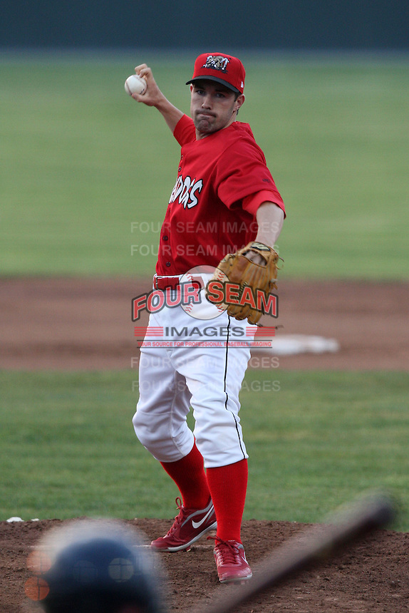 Batavia Muckdogs pitcher Houston Summers (1) during a game vs. the Connecticut Tigers at Dwyer Stadium in Batavia, New York July 8, 2010.   Connecticut defeated Batavia 4-2 in extra innings.  Photo By Mike Janes/Four Seam Images