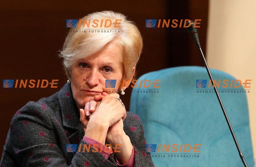 Roma, 01/12/2006 Convegno al Palazzo dei Congressi in occasione della Giornata Mondiale dell'AIDS. Nella foto Livia Turco, ministro della Salute.<br /> Photo Samantha Zucchi Inside (www.insidefoto.com)