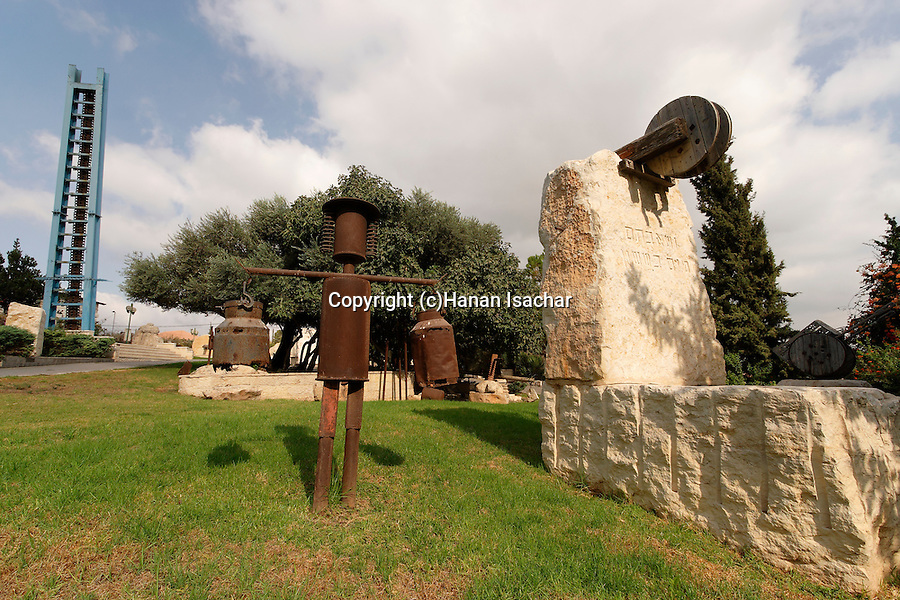 "Israel, Shephelah. ""Gan Golan"" memorial garden in Beth Shemesh, sculptures by Efik and Ada Peli"