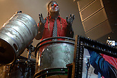 "Slipknot Performs on there All Hope Is Gone World Tour (2008–2009).(#6) Shawn ""Clown"" Crahan – custom percussion, backing vocals..Photo Credit: Eddie Malluk/AtlasIcons.com"