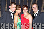 Chriatian O'Rourke, Linda Morris, Joan O'Rourke and David Clarke pictured at the charity Ball at the Ballygarry house hotel on New Years eve.
