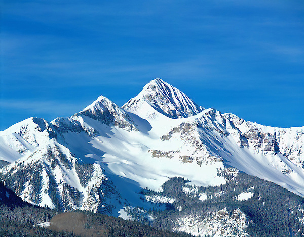 Wilson Peak (14017 feet) after a snowstorm, Telluride, Colorado, USA. .  John leads private photo tours in Boulder and throughout Colorado. Year-round Boulder photo tours.