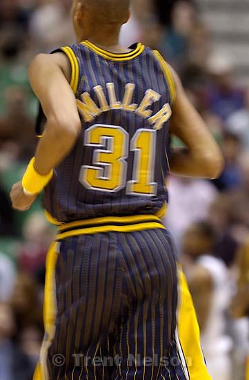 reggie miller Utah Jazz vs. Indiana Pacers slow shutter.<br />