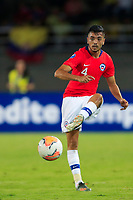 PEREIRA, COLOMBIA - JANUARY 18: Chile's Sebastian Cabrera controls the ball during their CONMEBOL Preolimpico soccer game against Ecuador at the Hernan Ramirez Villegas Stadium on January 18, 2020 in Pereira, Colombia. (Photo by Daniel Munoz/VIEW press/Getty Images)