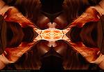 Fractal Hexagon, Fractal Composite, Upper Antelope Canyon, Tse-Bighanilini, Slot Canyon, Lake Powell Navajo Tribal Park, Page, Arizona