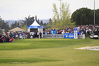 Nacho Elvira (ESP) on the 1st tee during Round 4 of the Open de Espana 2018 at Centro Nacional de Golf on Sunday 15th April 2018.<br /> Picture:  Thos Caffrey / www.golffile.ie<br /> <br /> All photo usage must carry mandatory copyright credit (&copy; Golffile | Thos Caffrey)