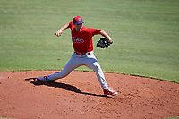 Philadelphia Phillies pitcher Jack Perkins (39) delivers a pitch during a Florida Instructional League game against the Toronto Blue Jays on September 24, 2018 at Spectrum Field in Clearwater, Florida.  (Mike Janes/Four Seam Images)