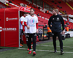 Billy Sharp of Sheffield Utd wear Weston Park Charity t-shirts during the championship match at the Bramall Lane Stadium, Sheffield. Picture date 14th April 2018. Picture credit should read: Simon Bellis/Sportimage