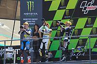 PODIUM MOTO 2 #12 DERENDINGER RACING INTERWETTEN (CHE) KALEX MOTO2 2015 THOMAS LÜTHI (CHE) #1 ESTRELLA GALICIA 0,0 MARC VDS (BEL) KALEX MOTO2 2015 ESTEVE RABAT (ESP) #5 AJO MOTORSPORT (FIN) KALEX MOTO2 2015 JOHANN ZARCO (FRA)