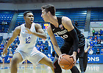 January 24, 2017:  San Diego State forward, Max Hoetzel #10, looks to make a pass during the NCAA basketball game between the San Diego State Aztecs and the Air Force Academy Falcons, Clune Arena, U.S. Air Force Academy, Colorado Springs, Colorado.  Air Force defeats San Diego State 60-57.