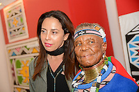 Esther Mahlangu attends Belvedere (RED) Cocktail Reception at Ace Gallery on August 24, 2016 (Photo by John K. Photography/Guest of a Guest)