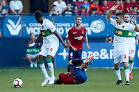 Manu (defender; Elche CF) during the Spanish <br /> la League soccer match between CA Osasuna and Elche CF at Sadar stadium, in Pamplona, Spain, on Saturday, <br /> agost 26, 2018.