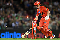 10th January 2020; Marvel Stadium, Melbourne, Victoria, Australia; Big Bash League Cricket, Melbourne Renegades versus Melbourne Stars; Marcus Harris of the Renegades is run out - Editorial Use