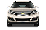 Straight front view of a 2013 Chevrolet Traverse 1LT SUV