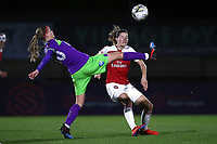 Julie Biesmans of Bristol and Dominique Bloodworth of Arsenal during Arsenal Women vs Bristol City Women, FA Women's Super League Football at Meadow Park on 14th March 2019
