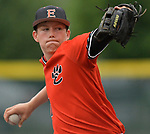 Edwardsville pitcher Matthew Boyer threw a complete game against Edwardsville. Edwardsville defeated Belleville West in a semifinal of the Class 4A Bloomington boys baseball sectional which was played in O'Fallon, IL on Wednesday May 29, 2019.<br />