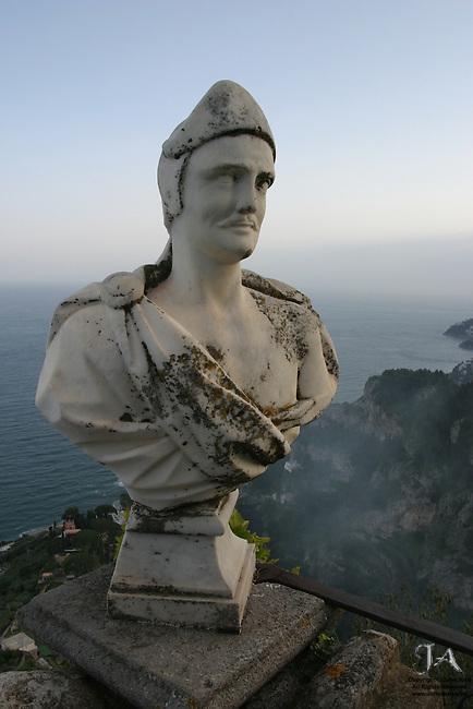 Bust at Villa Ciambrone, Ravello Italy