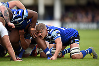 Tom Ellis of Bath Rugby looks on at a scrum. Gallagher Premiership match, between Bath Rugby and Wasps on May 5, 2019 at the Recreation Ground in Bath, England. Photo by: Patrick Khachfe / Onside Images