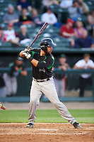 Dayton Dragons catcher Jose Duarte (16) during a game against the Peoria Chiefs on May 6, 2016 at Dozer Park in Peoria, Illinois.  Peoria defeated Dayton 5-0.  (Mike Janes/Four Seam Images)
