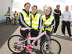 Katie Finlay and Amy and Jenny Farrell who took part in the Glyde Rangers annual sponsored cycle in Tallinstown. Photo: Colin Bell/pressphotos.ie