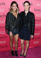 HOLLYWOOD, LOS ANGELES, CA, USA - SEPTEMBER 26: Vanessa Hudgens, Aubrey Plaza arrive at the Benefit Cosmetics: Wing Woman Weekend Kick-Off Party held at the Benefit Tattoo Parlor on September 26, 2014 in Hollywood, Los Angeles, California, United States. (Photo by Xavier Collin/Celebrity Monitor)