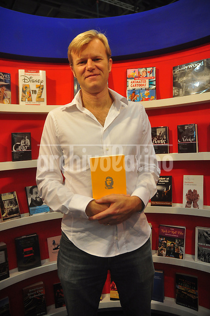 American wirter Michael Casey , author of Che's Afterlife:the legacy of an Image, during Buenos Aires book fair. Casey contacted Argentina readers sponsored by the US Embassy in Buenos Aires