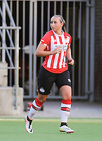 20160824 - GENT , BELGIUM : PSV Eindhoven's Corine Peels pictured during a friendly game between KAA Gent Ladies and PSV Eindhoven during the preparations for the 2016-2017 season , Wednesday 24 August 2016 ,  PHOTO Dirk Vuylsteke   Sportpix.Be