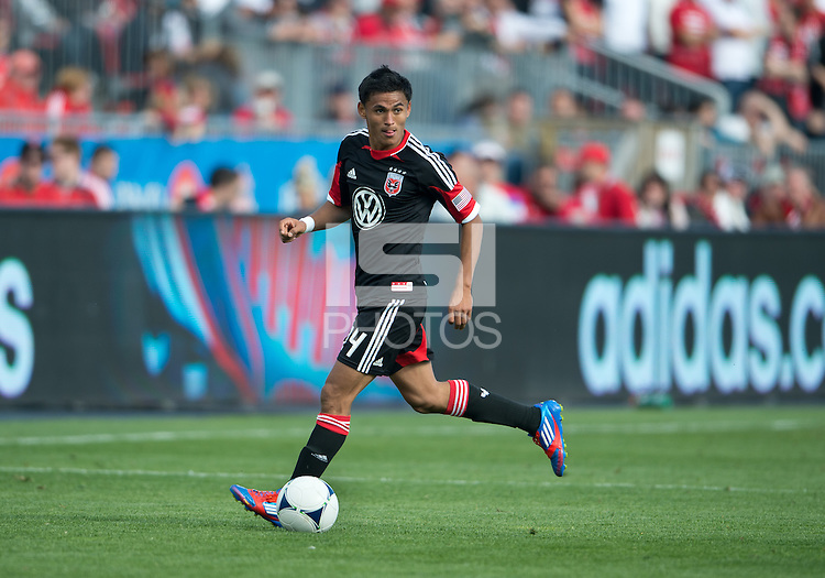 05 May 2012: D.C. United midfielder Andy Najar #14 in action during an MLS game between DC United and Toronto FC at BMO Field in Toronto..D.C. United won 2-0.
