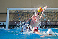 STANFORD, CA - October 9, 2010: Goalkeeper Brian Pingree during a water polo game against USC in Stanford, California. Stanford beat USC 5-3.