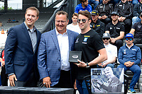 Verizon IndyCar Series<br /> Indianapolis 500 Drivers Meeting<br /> Indianapolis Motor Speedway, Indianapolis, IN USA<br /> Saturday 27 May 2017<br /> Starter's ring presentation: James Davison, Dale Coyne Racing Honda<br /> World Copyright: F. Peirce Williams