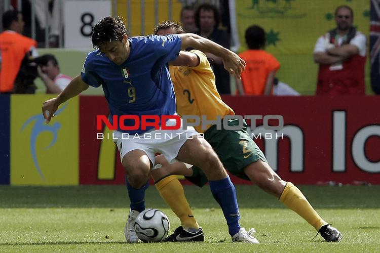 FIFA WM 2006 -  Round of Sixteen - / Viertelfinale <br /> Play      #53 (26-Jun) - Italien - Australien<br /> <br /> TONI Luca gegen Nell<br /> <br /> <br /> Foto &copy; nordphoto