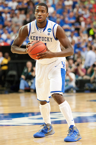 UK forward Michael Kidd-Gilchrist looks for an open teammate. Kentucky faced Baylor during the 2012 NCAA Tournament Regional Finals at the Georgia Dome in Atlanta, March 25, 2012. Photo by Derek Poore