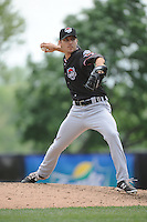 Erie Sea Wolves pitcher Slade Smith (43) during game against the Trenton Thunder at ARM & HAMMER Park on May 15, 2014 in Trenton, NJ.  Erie defeated Trenton 4-2.  (Tomasso DeRosa/Four Seam Images)