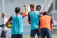 Walker Zimmerman, Mark McKenzie, Cristian Roldan celebrates the goal with his teammates