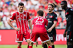 Bayern Munich Forward Thomas Muller (R) talks to Bayern Munich Forward Robert Lewandowski (L) during the 2017 International Champions Cup China  match between FC Bayern and AC Milan at Universiade Sports Centre Stadium on July 22, 2017 in Shenzhen, China. Photo by Marcio Rodrigo Machado / Power Sport Images