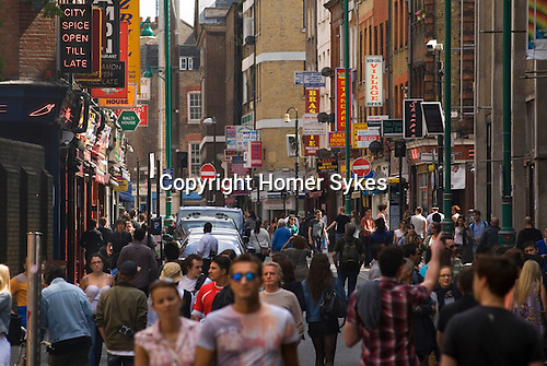 Brick Lane London E1. Tower Hamlets. Looking south from near Trumans Brewery.